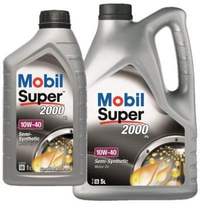 Mobil Super 2000 X1 10W40 semi-synthetische motorolie