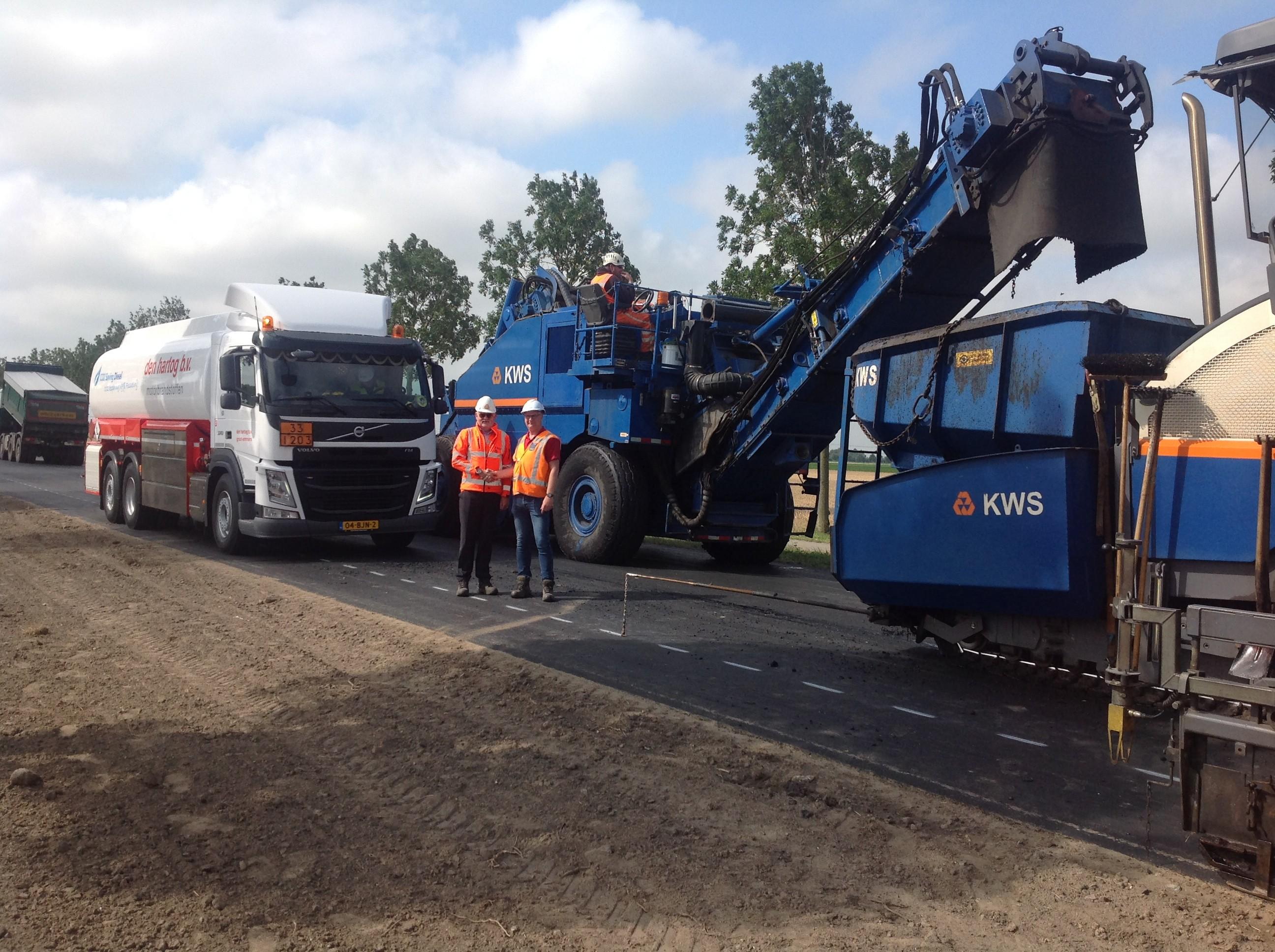 Geslaagd project met duurzaam asfalteren KWS