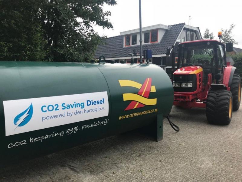 CO2 Saving Diesel bij gebr. van der Lee schiermonnikoog
