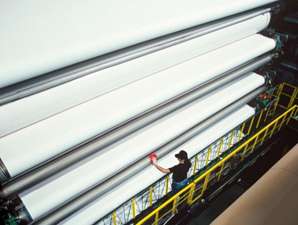 Papiersector papierfabriek