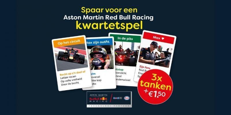 Spaar voor het Aston Martin Red Bull Racing kwartetspel