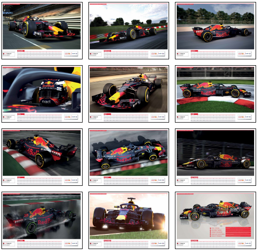 Kalender Aston Martin Red Bull Racing