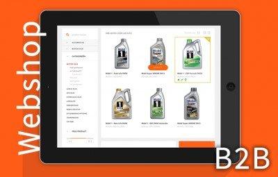 Webshop homepage Mobil Olie den hartog