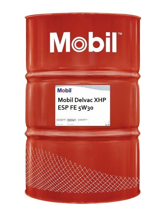 VDS 5 Mobil Delvac XHP ESP FE 5W30 vat 208 liter voorkant
